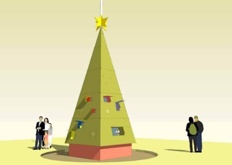 3D advent calendar tree picture Andreas Yiasimi 2014