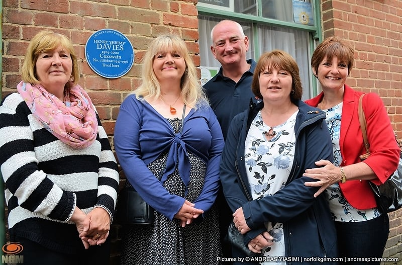 Blue plaques unveiled in honour of Cromer Lifeboat Heroes . Picture by Andreas Yiasim