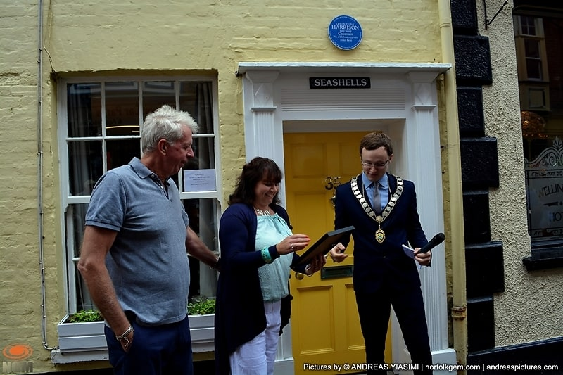 Blue plaques unveiled in honour of Cromer Lifeboat Heroes . Picture by Andreas Yiasimi