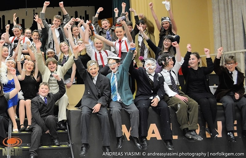 Bugsy Malone cast Cromer Academy. Picture by Andreas Yiasimi