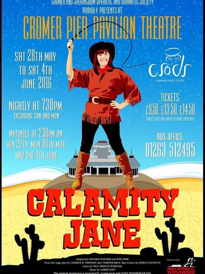 CSODS production, Calamity Jane poster