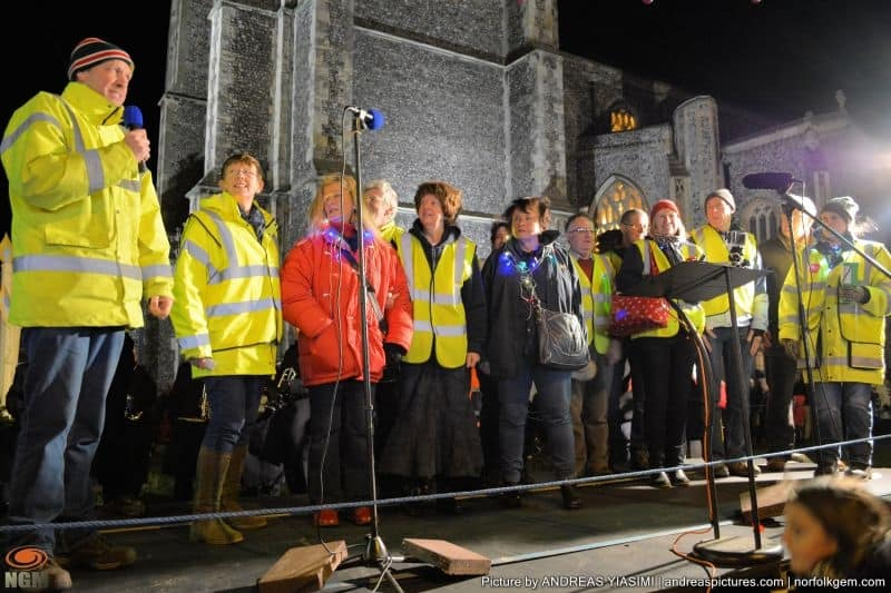 Cromer Christmas lights volunteers. Picture by Andreas Yiasimi.
