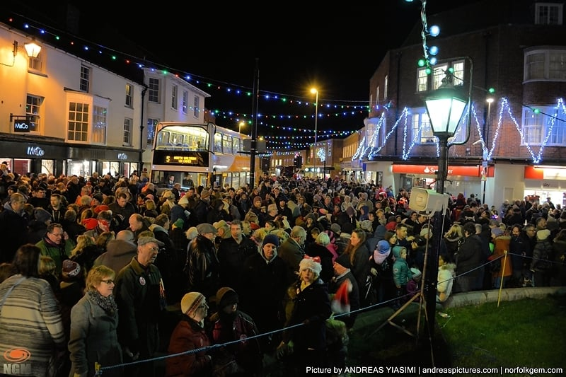 Thousands attend Cromer Christmas lights festivities. Picture by Andreas Yiasimi