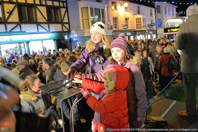 Christmas lights switch on. Picture by Andreas Yiasimi
