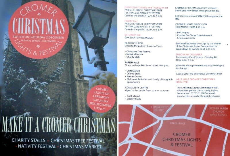 Cromer lights switch on timetable