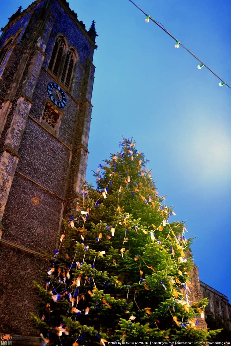 Cromer Christmas Tree at night picture Andreas Yiasimi (3)