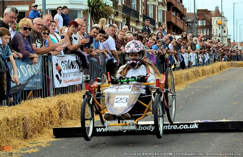 Cromer soapbox derby. Picture by © Andreas Yiasimi