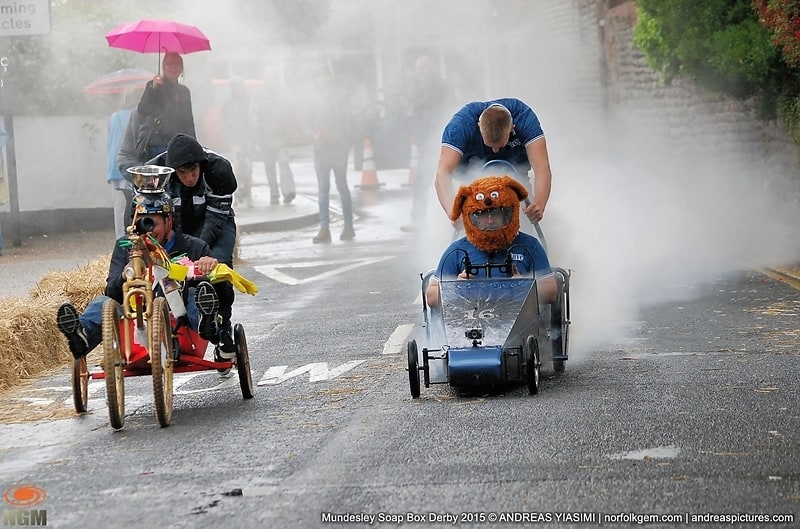 Mundesley Action Packed Soap Box Derby returns after 10 Years . Picture by Andreas Yiasimi