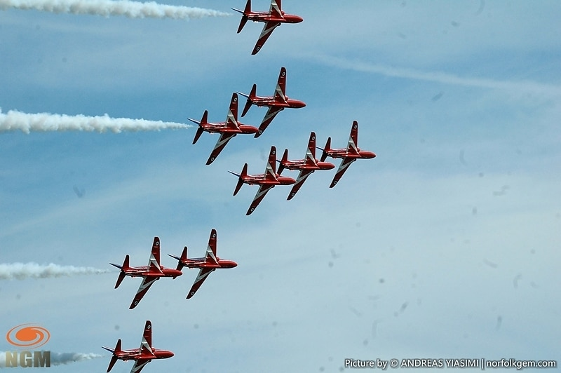 Red Arrows Cromer Carnival picture by Andreas Yiasimi