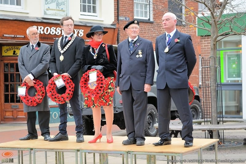 Remembrance Sunday  Cromer 2015 © Picture by Andreas Yiasimi