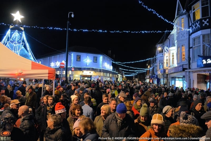 Sheringham Christmas lights switch on picture Andreas Yiasimi (71)