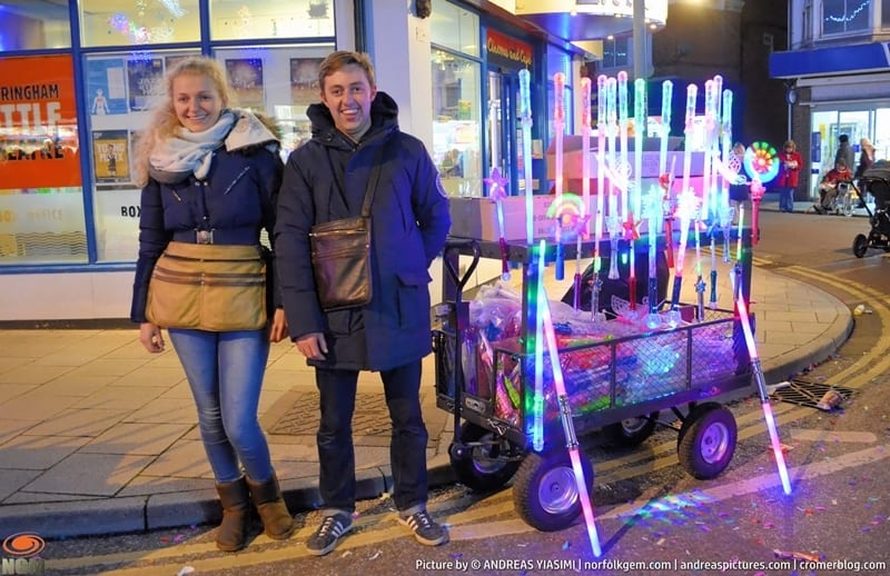 Sheringham Christmas lights switch on picture Andreas Yiasimi (91)