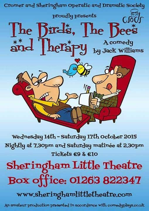 CSODS Therapist comedy play on Sheringham stage