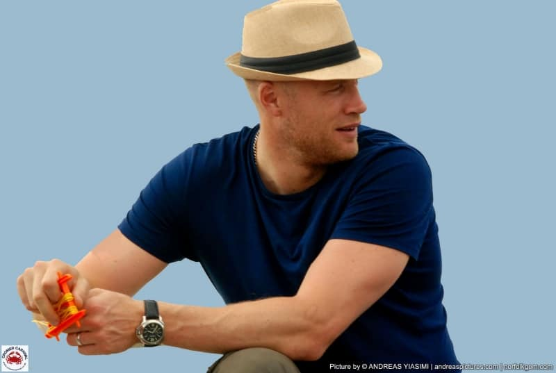 "Former England cricket captain Andrew ""Freddie"" Flintoff drew the crowds on Cromer Pier during filming."
